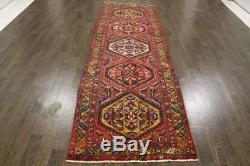 Traditional Vintage Persian Wool 3.3 X 10.5 Handmade Rugs Oriental Rug Carpet