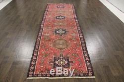 Traditional Vintage Persian Wool 3.4 X 10.6 Handmade Rugs Oriental Rug Carpet