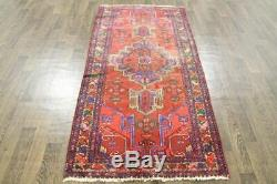 Traditional Vintage Persian Wool 3.4 X 7 Handmade Rugs Oriental Rug Carpet