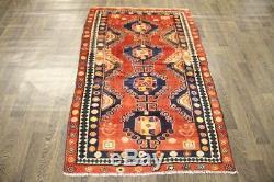 Traditional Vintage Persian Wool 3.6 X 5.9 Oriental Rug Handmade Carpet Rugs