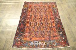 Traditional Vintage Persian Wool 3.8 X 5.7 Handmade Rugs Oriental Rug Carpet