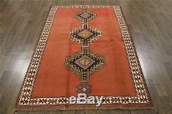 Traditional Vintage Persian Wool 4.1 X 6.1 Handmade Rugs Oriental Rug Carpet