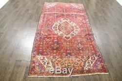 Traditional Vintage Persian Wool 4.1 X 8.4 Oriental Rug Handmade Carpet Rugs