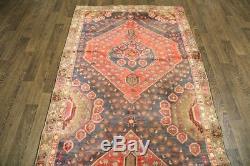 Traditional Vintage Persian Wool 4.1 X 9.1 Oriental Rug Handmade Carpet Rugs