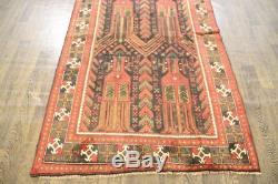 Traditional Vintage Persian Wool 4.1 X 9.2 Handmade Rugs Oriental Rug Carpet
