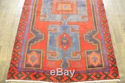 Traditional Vintage Persian Wool 4.2 X 7 Handmade Rugs Oriental Rug Carpet