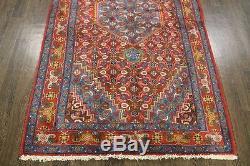 Traditional Vintage Persian Wool 4.3 X 7.1 Handmade Rugs Oriental Rug Carpet