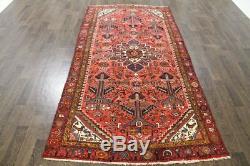 Traditional Vintage Persian Wool 4.4 X 9.7 Handmade Rugs Oriental Rug Carpet