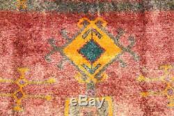 Traditional Vintage Persian Wool 4.9 X 12.5 Oriental Rug Handmade Carpet Rugs