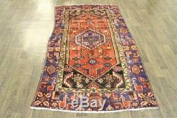 Traditional Vintage Persian Wool 4 X 6.8 Handmade Rugs Oriental Rug Carpet