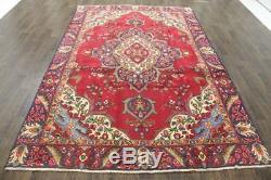 Traditional Vintage Persian Wool 6.1 X 9.4 Handmade Rugs Oriental Rug Carpet