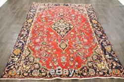 Traditional Vintage Persian Wool 6.2 X 8 Handmade Rugs Oriental Rug Carpet
