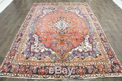 Traditional Vintage Persian Wool 6.6 X 9.4 Oriental Rug Handmade Carpet Rugs