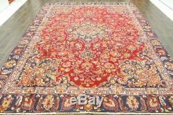 Traditional Vintage Persian Wool 8.6 X 11.5 Handmade Rugs Oriental Rug Carpet