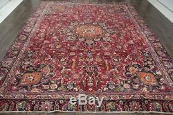 Traditional Vintage Persian Wool 8.8 X 11.3 Oriental Rug Handmade Carpet Rugs