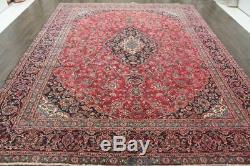 Traditional Vintage Persian Wool 9.1 X 11.9 Handmade Rugs Oriental Rug Carpet