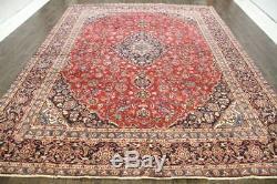 Traditional Vintage Persian Wool 9.2 X 12.4 Oriental Rug Handmade Carpet Rugs