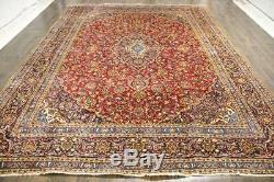 Traditional Vintage Persian Wool 9.2 X 12.5 Oriental Rug Handmade Carpet Rugs
