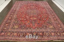 Traditional Vintage Persian Wool 9.4 X 12.9 Handmade Rugs Oriental Rug Carpet