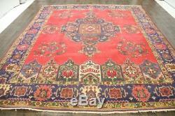 Traditional Vintage Persian Wool 9.5 X 11.4 Oriental Rug Handmade Carpet Rugs