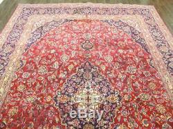 Traditional Vintage Persian Wool 9.7 X 13 Handmade Rugs Oriental Rug Carpet