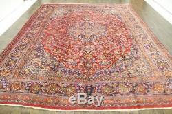Traditional Vintage Persian Wool 9.8 X 12.6 Handmade Rugs Oriental Rug Carpet