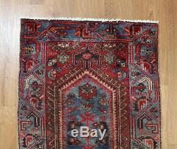 Traditional Vintage Wool Handmade Classic Oriental Area Rug Carpet 120 X 68 cm