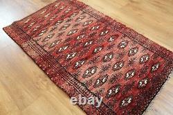 Traditional Vintage Wool Handmade Classic Oriental Area Rug Carpet 120 X 71cm