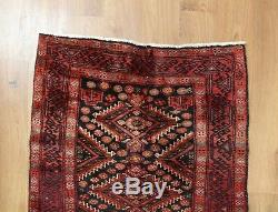Traditional Vintage Wool Handmade Classic Oriental Area Rug Carpet 125X 82cm
