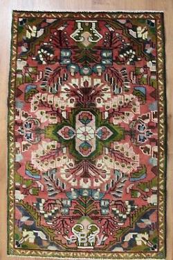 Traditional Vintage Wool Handmade Classic Oriental Area Rug Carpet 125 X 80 cm
