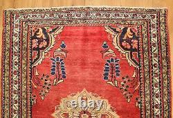 Traditional Vintage Wool Handmade Classic Oriental Area Rug Carpet 136 X 107 cm