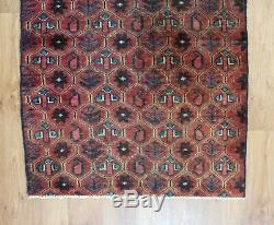 Traditional Vintage Wool Handmade Classic Oriental Area Rug Carpet 140X 90 cm