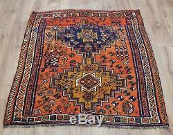 Traditional Vintage Wool Handmade Classic Oriental Area Rug Carpet 140cmX110cm