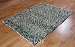 Traditional Vintage Wool Handmade Classic Oriental Area Rug Carpet 150 X 119 cm