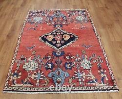 Traditional Vintage Wool Handmade Classic Oriental Area Rug Carpet 164 X111 cm