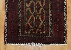 Traditional Vintage Wool Handmade Classic Oriental Area Rug Carpet 167 X 85 cm