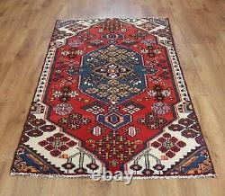 Traditional Vintage Wool Handmade Classic Oriental Area Rug Carpet 170X 94cm