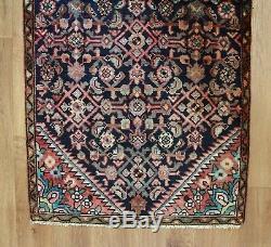 Traditional Vintage Wool Handmade Classic Oriental Area Rug Carpet 176 X 83 cm