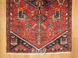Traditional Vintage Wool Handmade Classic Oriental Area Rug Carpet 177 X 86cm