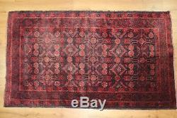 Traditional Vintage Wool Handmade Classic Oriental Area Rug Carpet 185X 102 cm