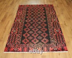 Traditional Vintage Wool Handmade Classic Oriental Area Rug Carpet 195X 115cm