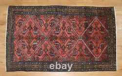 Traditional Vintage Wool Handmade Classic Oriental Area Rug Carpet 196 X 116 cm
