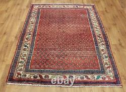 Traditional Vintage Wool Handmade Classic Oriental Area Rug Carpet 198X139cm