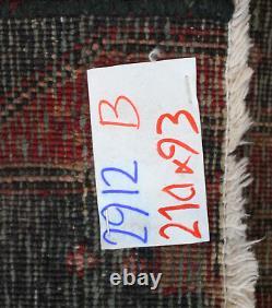 Traditional Vintage Wool Handmade Classic Oriental Area Rug Carpet 210 X 93 cm