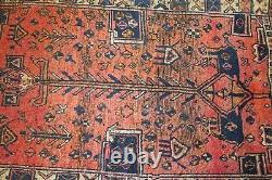 Traditional Vintage Wool Handmade Classic Oriental Area Rug Carpet 340X 106 cm