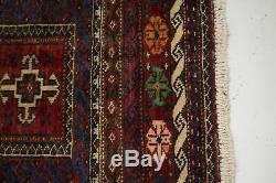 Tribal Runner Vintage 4X9 Balouch Turkoman Persian Rug Oriental Décor Carpet