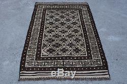 Tribal afghan vintage baluch 3'5 x 5'8 Ft moroccan antique rug persian kilim