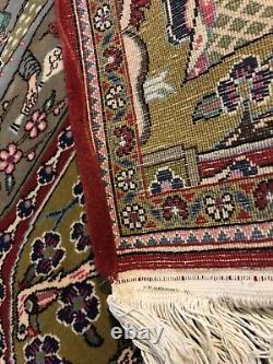 Turkish Dowry Rug Wool 2 x 3 Pictorial Rare Design Pattern Vintage