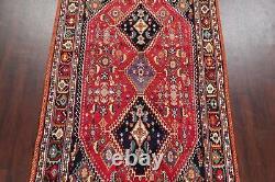VEGETABLE DYE Vintage Kashkoli Nafar Geometric Area Rug Hand-Knotted Tribal 6x10