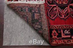VINTAGE 11 ft RED Runner Heriz Tribal Oriental Wool Rug 10' 8 x 3' 6